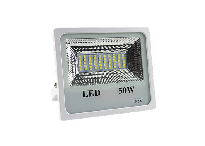 Slim 50W Led Security Flood Light Energy Saving 50 / 60Hz 50000 Hours Working Lifetime
